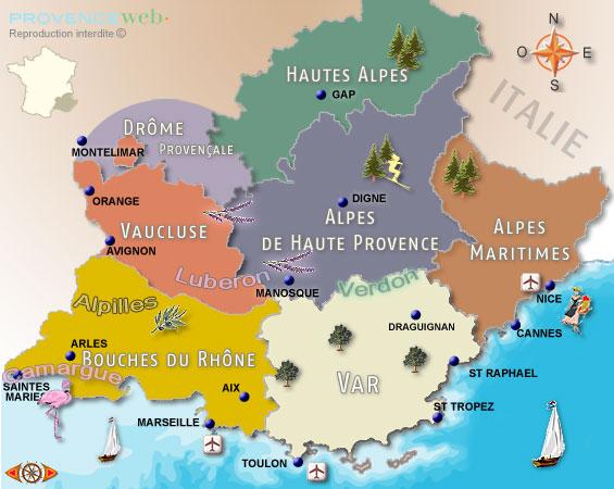 Provence Gezilecek Bölgeler